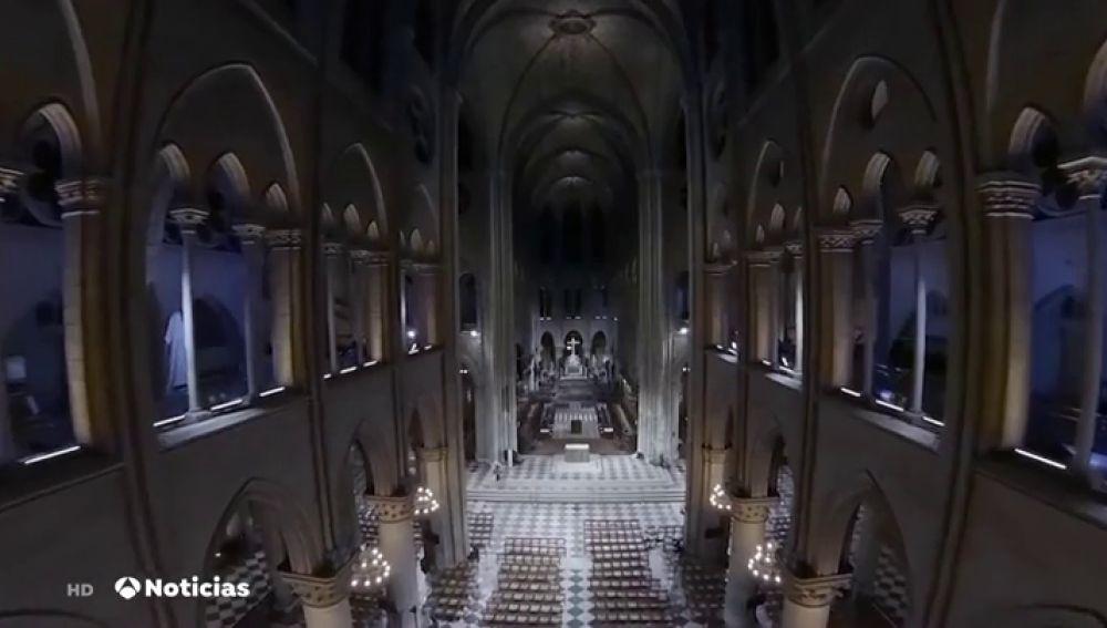 Pasea por el interior de Notre Dame tal y como estaba antes del incendio