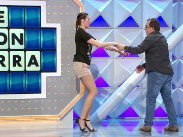 Laura Moure, perfecta pareja de baile de Javi