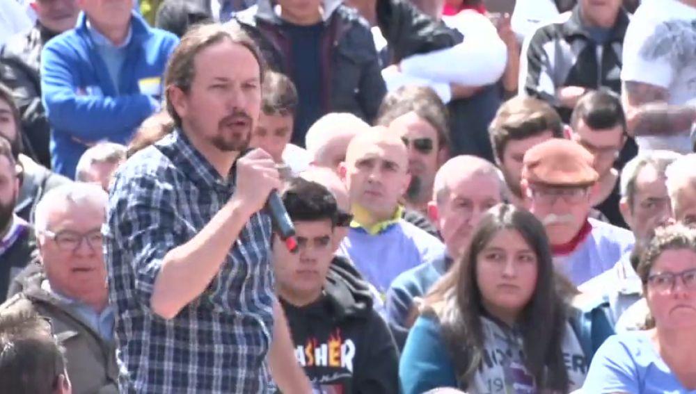 """Pablo Iglesias pide el voto progresista para presionar al PSOE y formar un gobierno que """"piense en la gente"""""""