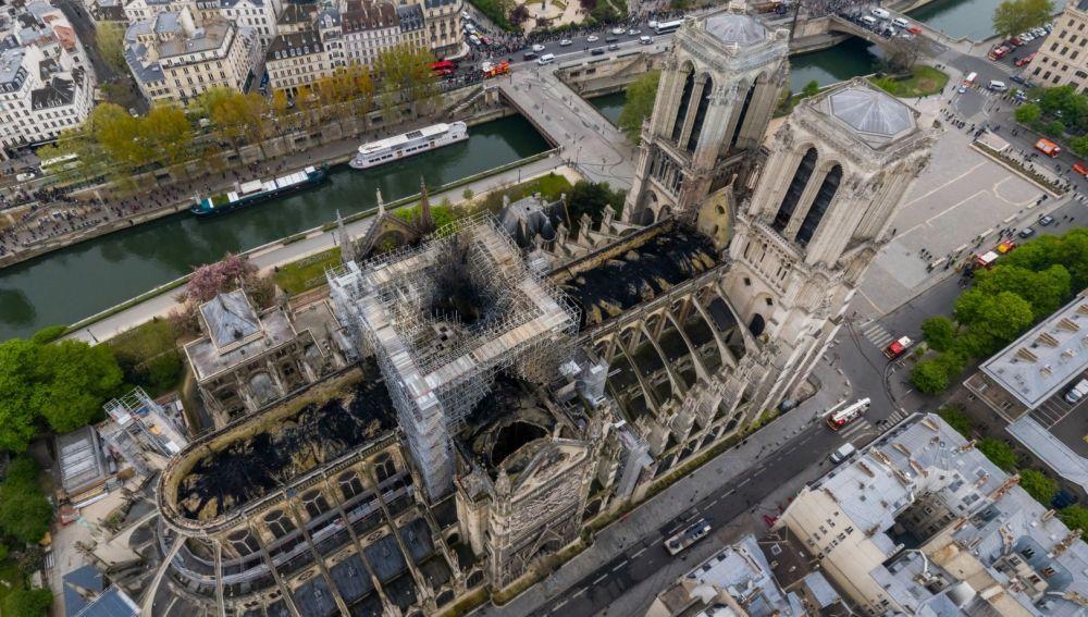 Imagen de Notre-Dame tras el incendio