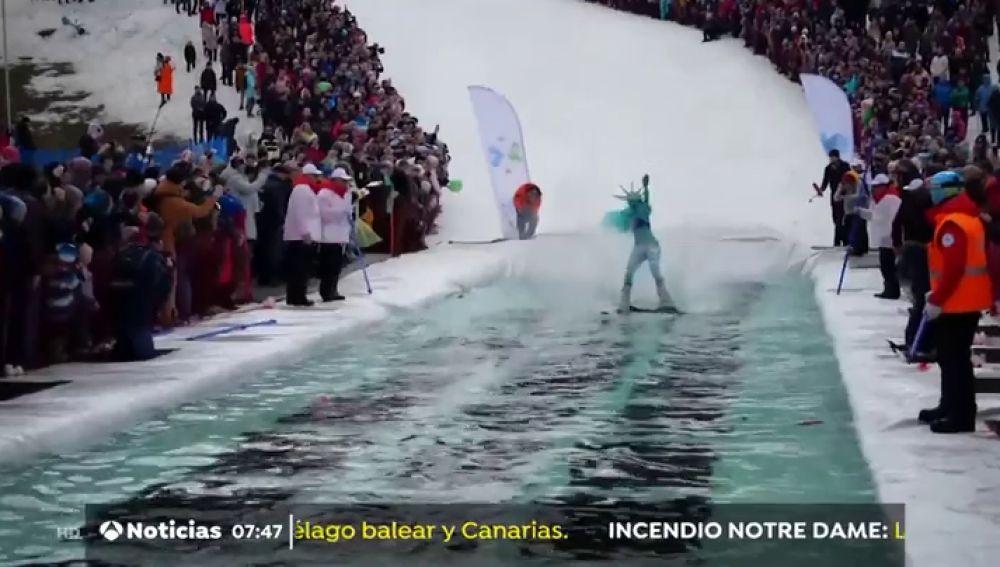 Competición de esquí en Rusia