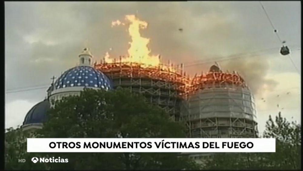 Incendio en Notre Dame: otros monumentos que fueron víctimas del fuego