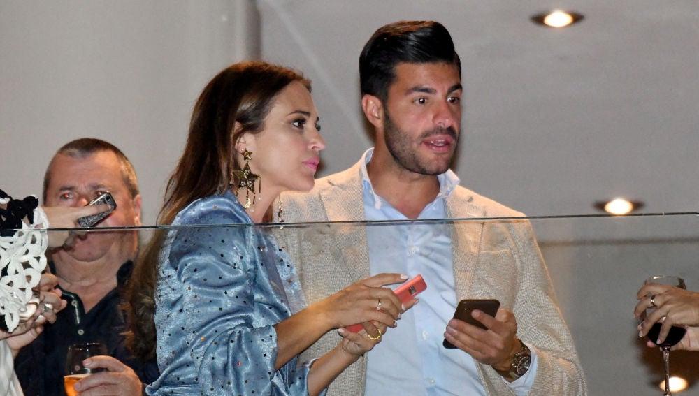 Paula Echevarría y Miguel Torres durante la Semana Santa malagueña
