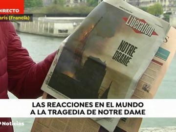 Las diez portadas de la prensa internacional sobre el incendio de Notre Dame