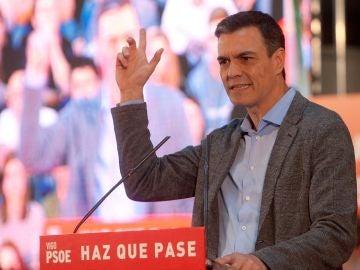 El presidente del Gobierno y candidato por el PSOE a la reelección Pedro Sánchez