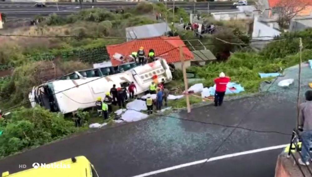 Varios muertos en el accidente de un bus turístico en Madeira