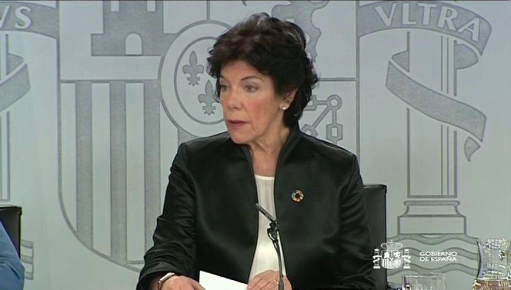"""Isabel Celaá: """"Sánchez acude con la voluntad de que sea un debate alejado del insulto y la crispación"""""""