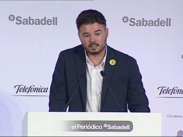 """Rufián, sobre su participación en el debate de TVE: """"Haremos todo lo posible para estar allí"""""""