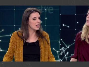 Irene Montero y Cayetana Álvarez de Toledo