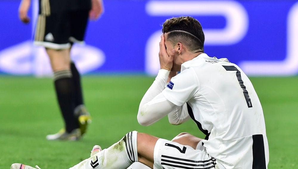Cristiano Ronaldo, en el choque contra el Ajax