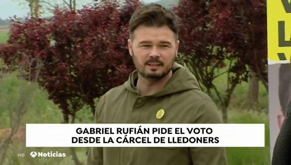 Rufián protagoniza un mitin en la cárcel de Lledoners