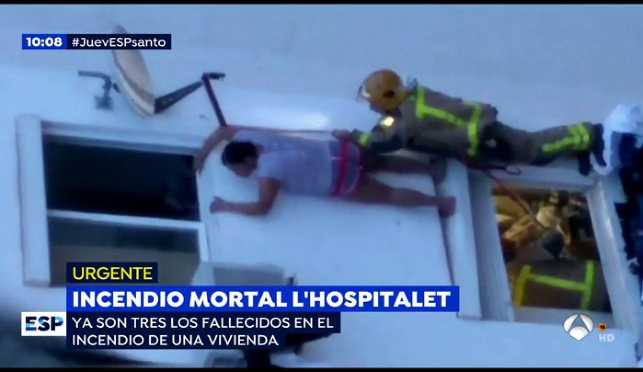 Incendio en L' Hospitalet.