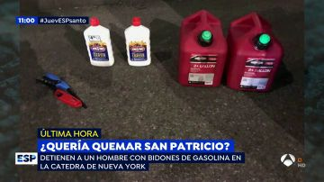 Detienen a un hombre por entrar con dos bidones de gasolina y varios mecheros a una catedral de Nueva York