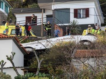 Autobús siniestrado en Madeira