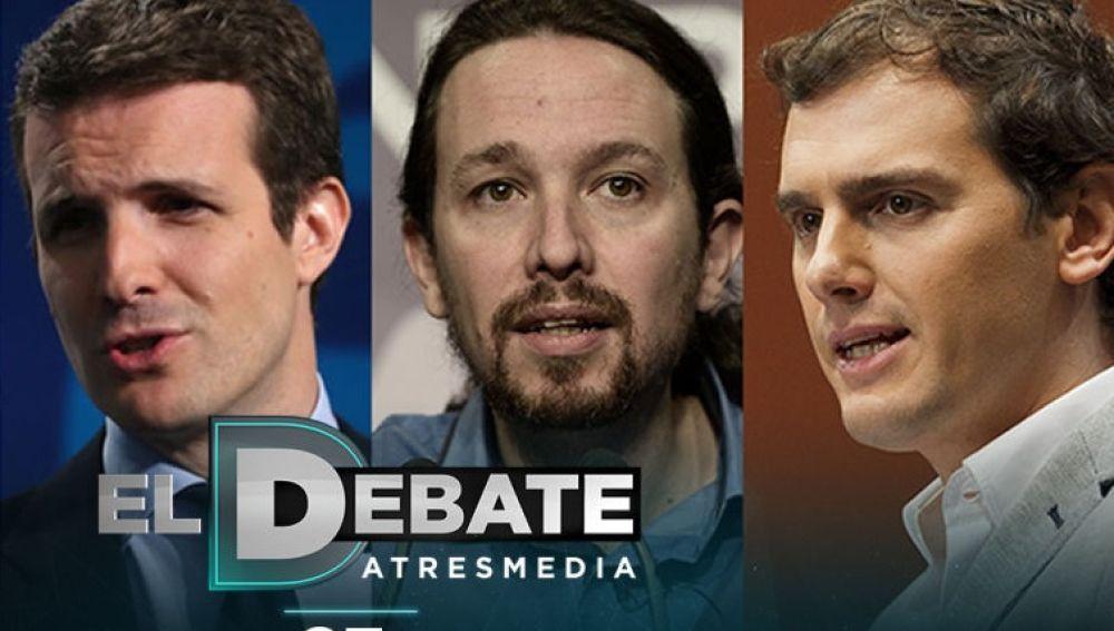 PP, Unidas Podemos y Ciudadanos confirman su presencia en 'El Debate'