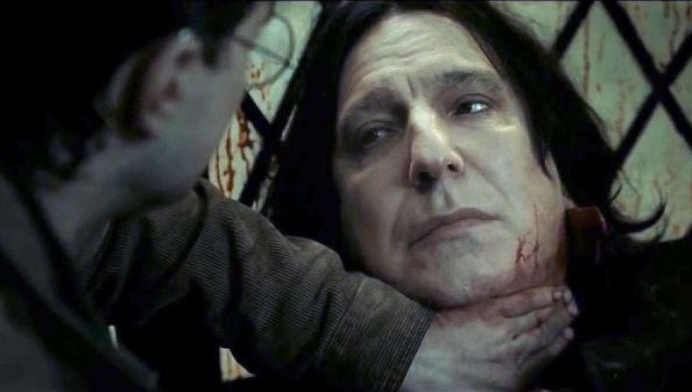 Snape y Harry Potter en 'Las Reliquias de la Muerte'