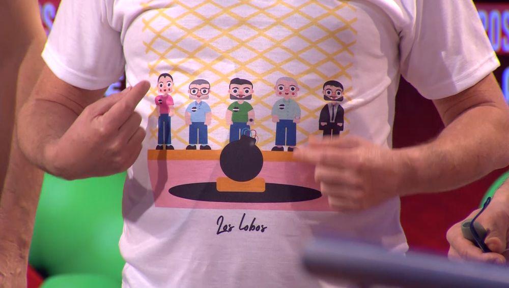 El gracioso motivo de la camiseta de 'Los Lobos'
