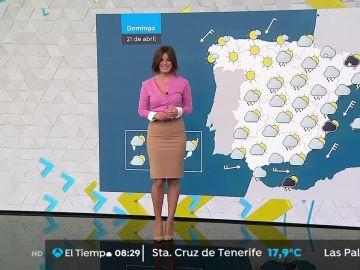 Lluvias en toda España y temperaturas en descenso