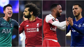 Son, Salah, Lacazette y Hazard