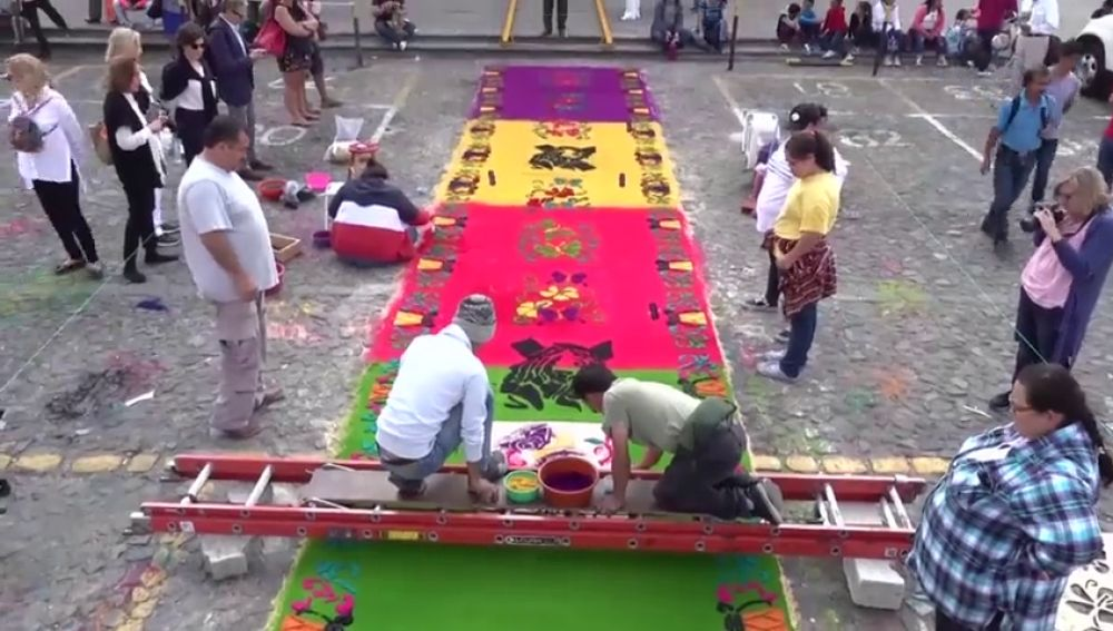 Guatemala alfombras de flores