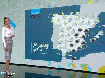 La inestabilidad se mantiene este Domingo de Resurrección en la mitad este peninsular y Baleares