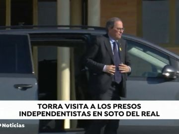 Torra visita a los presos independentistas de Soto del Real y Alcalá Meco