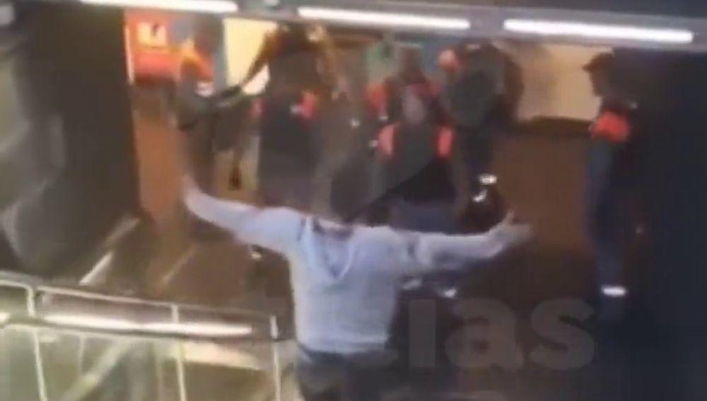 Pelea en el Metro de Barcelona