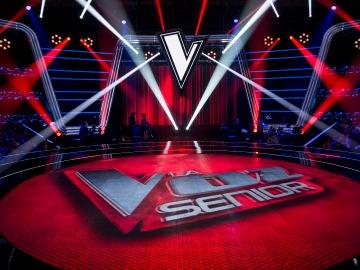 El plató de 'La Voz Senior'