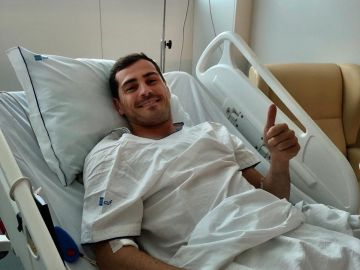 Iker Casillas en el hospital