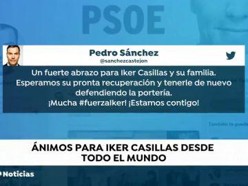 Los políticos se vuelcan con el estado de salud de Iker Casillas