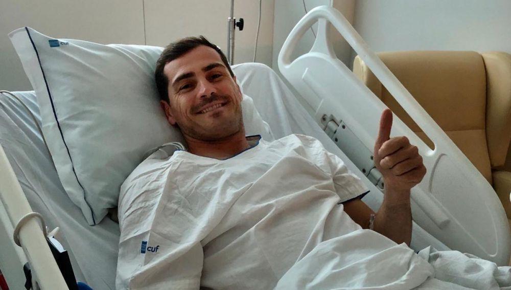 """lasexta Deportes (01-05-19) El tranquilizador mensaje de Iker Casillas tras sufrir un infarto: """"Un susto grande, pero con las fuerzas intactas"""""""
