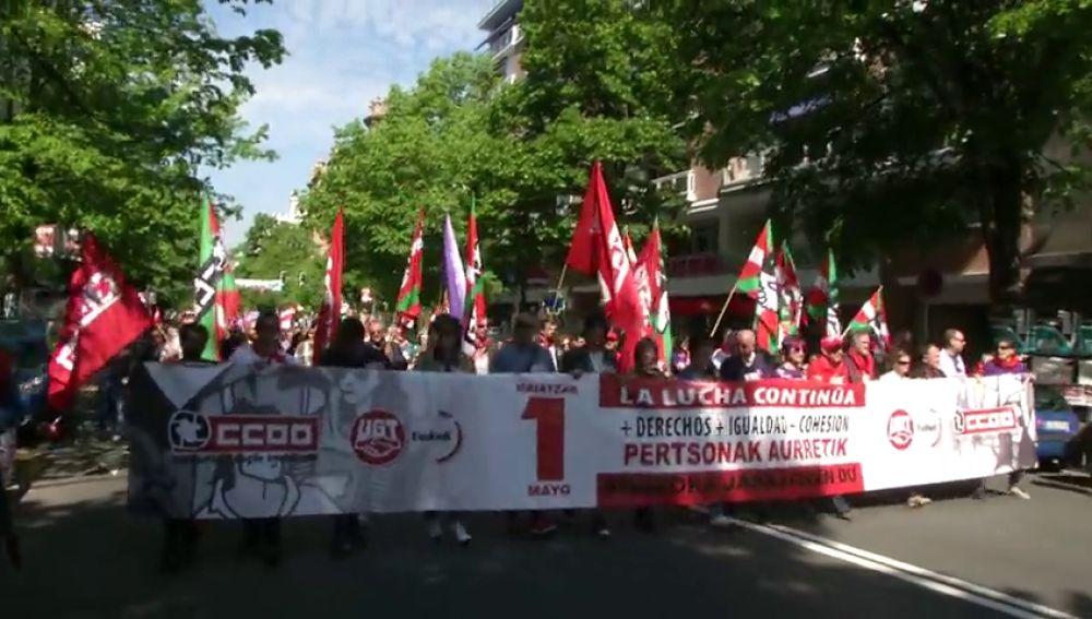 Manifestación por el 1 de Mayo en Bilbao