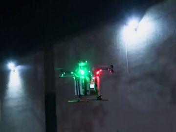 Un dron transportando un riñón donado