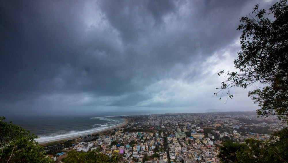 Ciclón en la India