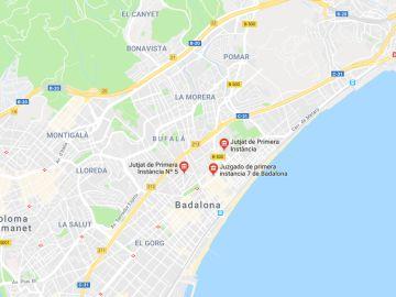 Imagen de Google Maps de Badalona