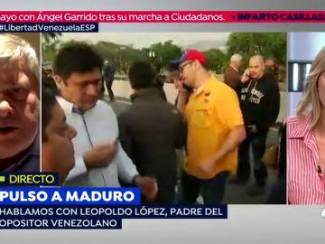 """Leopoldo López, padre del opositor venezolano: """"El único error que ha cometido alguien ha sido el pueblo español reconociéndole algún liderazgo al señor Iglesias"""""""