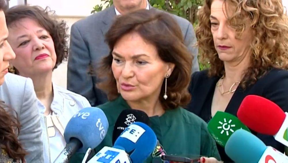 """Carmen Calvo: """"Queremos gobernar con nuestro programa y nuestras fuerzas"""""""