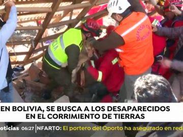 Deslizamiento de tierras en Bolivia
