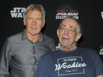Harrison Ford con Peter Mayhew