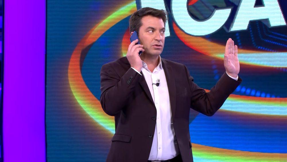 La difícil llamada de Arturo Valls en '¡Ahora caigo!'