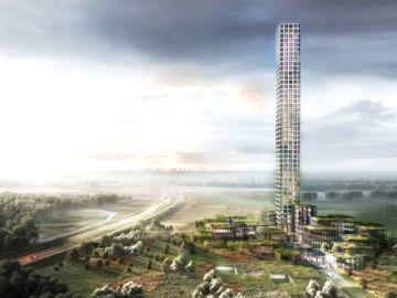 El rascacielo más alto de Europa Occidental, medirá 320 metros de altura y se construirá en un pequeño pueblo de Dinamarca