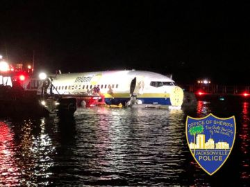 El avión siniestrado en Jacksonville