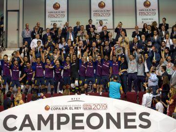 El Barça Lassa levanta la Copa del Rey de fútbol sala