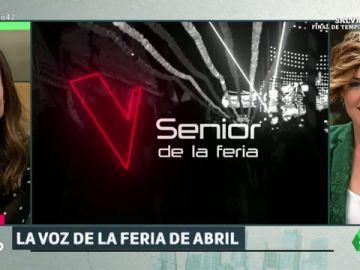 'Liarla Pardo' sorprende a Eva González buscando a 'La Voz Senior' de la Feria de Abril