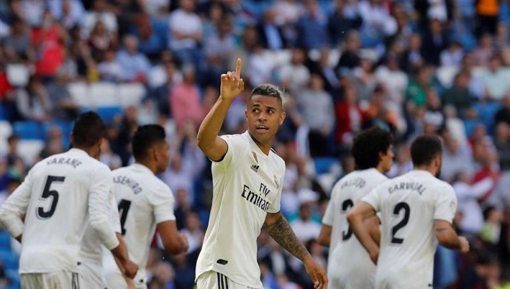 Mariano marca ante el Villarreal