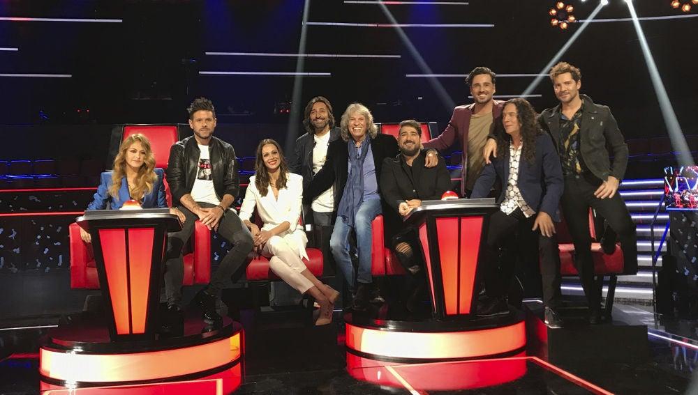 José Mercé, Tomatito, Antonio Carmona y Bustamante, asesores de 'La Voz Senior'