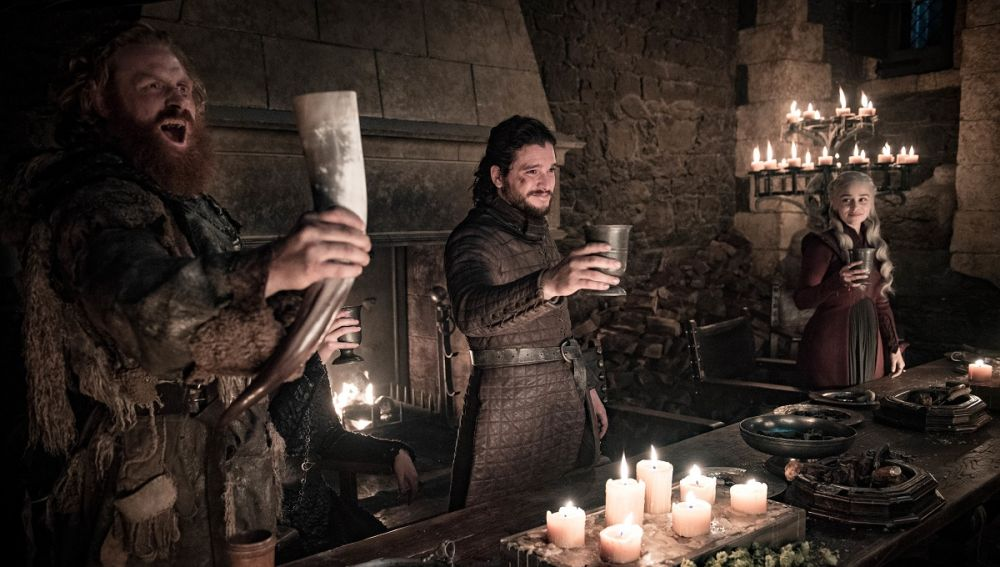 Tormund, Jon y Daenerys en 'Juego de Tronos'