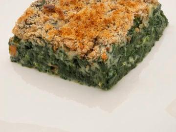 Pastel de espinacas con provenzal de queso