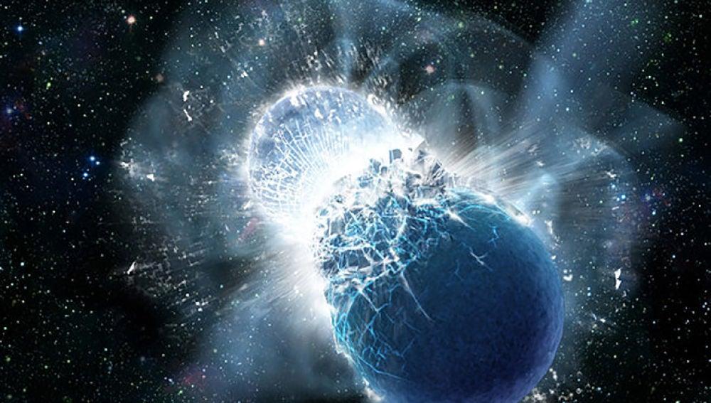 LIGO y Virgo detectan la posible fusion de una estrella de neutrones con un agujero negro