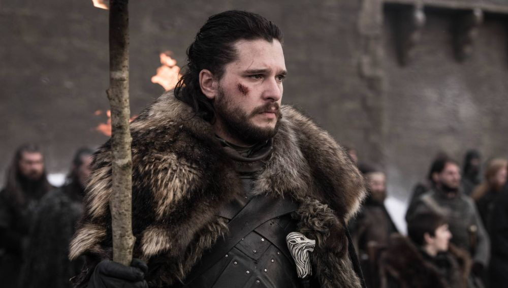 Jon Snow en el último capítulo de 'Juego de Tronos'